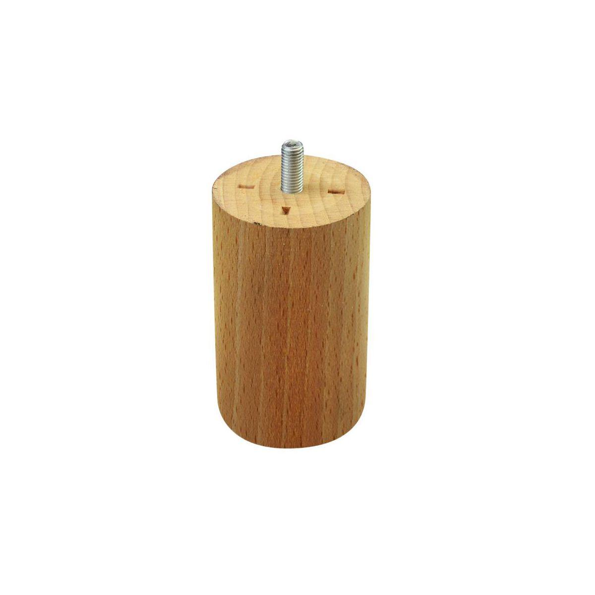 Noga meblowa drewniana okrągła